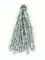 Silver & Clear Crystal Glass Beaded Tassel (CRY408)