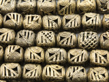 Ornate Cube Brass Beads 16-18mm - Ghana (ME5699)