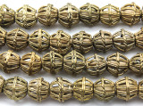Ornate Round Brass Beads 12-15mm - Ghana (ME5706)