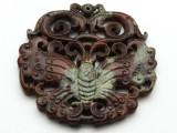 Carved Jade Gemstone Pendant 70mm (GSP1846)