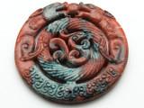 Carved Jade Gemstone Pendant 70mm (GSP1849)