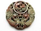 Carved Jade Gemstone Pendant 54mm (GSP1851)