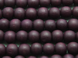 Dark Purple Round Wood Beads 12mm (WD942)