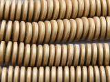 Gold Disc Wood Beads 15mm (WD945)