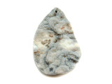 Silver Druzy Chalcedony Rose Pendant 43mm (GSP1891)