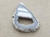 Montana Agate Gemstone Druzy Slab Pendant 38mm (GSP1904)