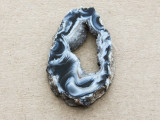 Montana Agate Gemstone Druzy Slab Pendant 35mm (GSP1906)