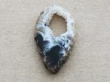 Montana Agate Gemstone Druzy Slab Pendant 35mm (GSP1907)