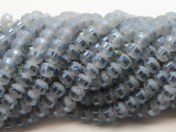 Cool Gray Metallic Stripe Crystal Glass Beads 8mm (CRY453)