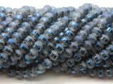 Slate Blue Metallic Stripe Crystal Glass Beads 8mm (CRY456)