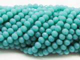 Turquoise Blue Round Crystal Glass Beads 6mm (CRY462)