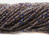 Smoky & Purple Crystal Glass Beads 4mm (CRY468)