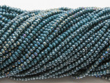Metallic Slate Blue Crystal Glass Beads 2mm (CRY479)