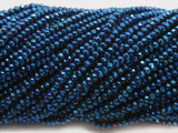 Metallic Blue Crystal Glass Beads 2mm (CRY481)