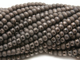 Dark Bronze Metallic Stripe Crystal Glass Beads 6mm (CRY484)