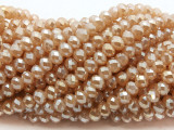 Beige Crystal Glass Beads 6mm (CRY497)