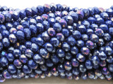 Jeweltone Blue Crystal Glass Beads 6mm (CRY498)
