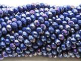 Jeweltone Blue Crystal Glass Beads 6mm (CRY498)