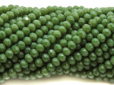Pea Green Crystal Glass Beads 6mm (CRY503)