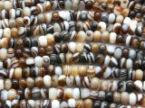 Banded Agate Rondelle Gemstone Beads 8mm (GS4418)