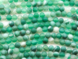 Matte Green Agate Round Gemstone Beads 6mm (GS4423)