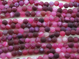 Matte Magenta Agate Round Gemstone Beads 6mm (GS4426)