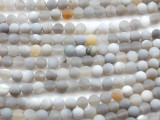Matte Gray Agate Round Gemstone Beads 6mm (GS4428)
