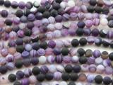 Matte Purple Agate Round Gemstone Beads 6mm (GS4429)