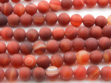 Matte Carnelian Agate Round Gemstone Beads 10mm (GS4430)
