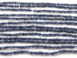 Iolite Irregular Faceted Saucer Gemstone Beads 3mm (GS4431)