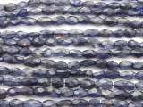 Iolite Faceted Rice Gemstone Beads 5-13mm (GS4433)