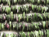 Ruby Zoisite Saucer Chip Gemstone Beads 10-15mm (GS4435)