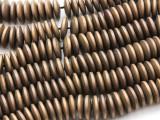 Matte Light Bronze Electroplated Hematite Saucer Gemstone Beads 12mm (GS4439)