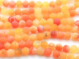 Matte Orange Crackle Agate Round Gemstone Beads 8mm (GS4455)