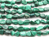 Malachite Nugget Gemstone Beads 8-13mm (GS4466)