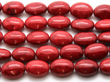 Red Bamboo Coral Oval Beads 18mm (CO558)