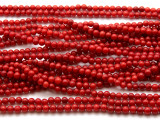Red Bamboo Coral Round Beads 3-4mm (CO559)