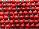 Red Bamboo Coral Round Beads 10mm (CO561)