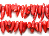 Red Bamboo Coral Branch Beads 23-35mm (CO563)