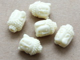 Ivory Buddha Resin Bead 14mm (RES621)