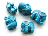 Light Blue Elephant Resin Bead 12mm (RES632)