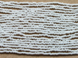 "Small White Glass Beads - 44"" strand (JV9071)"