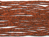 "Small Burnt Orange Glass Beads - 44"" strand (JV9073)"