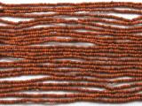 "Small Burnt Orange Glass Beads - 44"" strand (JV9073)"