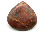 Red Creek Jasper Teardrop Pendant 45mm (GSP1940)