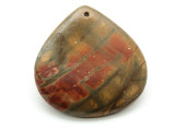 Red Creek Jasper Teardrop Pendant 45mm (GSP1941)