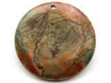 Red Creek Jasper Round Pendant 50mm (GSP1969)