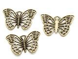 Brass Butterfly - Pewter Pendant 25mm (PW921)