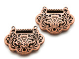 Copper Ornate Floral - Pewter Pendant 37mm (PW924)