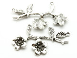 Branch w/Flowers - Pewter Pendant 52mm (PW950)
